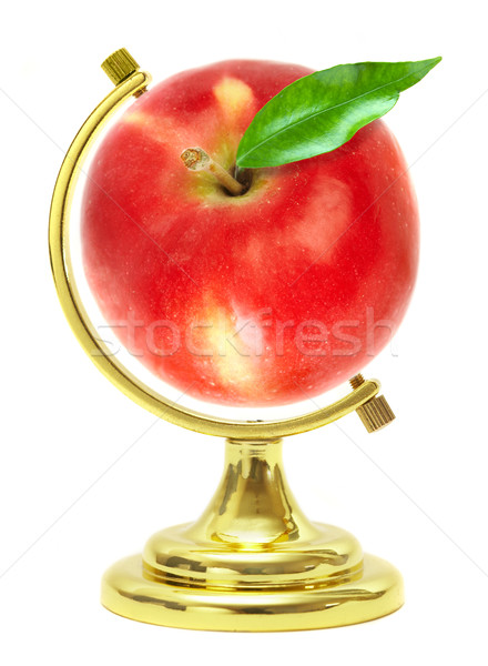 Red apple - terrestrial globe Stock photo © cookelma
