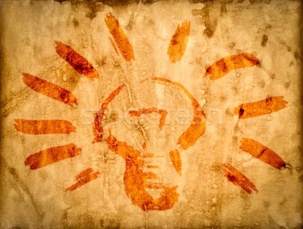 Oud papier textuur papier achtergrond lamp Stockfoto © cookelma