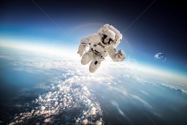 宇宙飛行士 宇宙 背景 地球 要素 画像 ストックフォト © cookelma