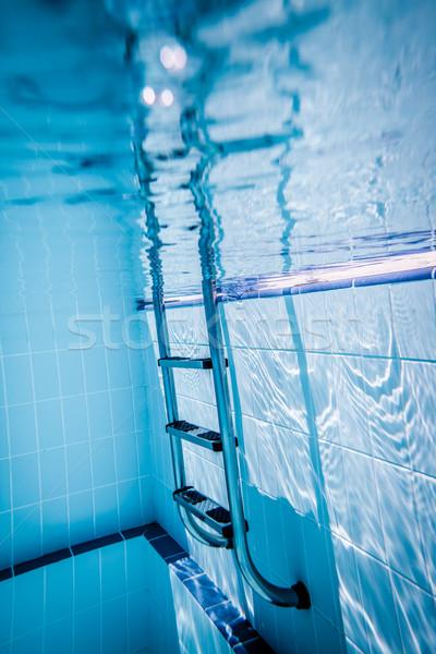 лестнице бассейна воды текстуры спорт крест Сток-фото © cookelma