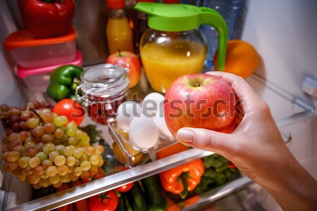 Human hands reaching for turkey leg food at night in the open re Stock photo © cookelma