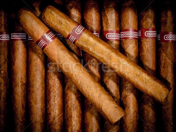 Cigares ouvrir affaires fond boîte Photo stock © cookelma
