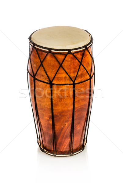 Kisebbségi dob izolált fehér zene fa Stock fotó © cookelma