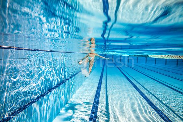 Stock photo: Swimming pool background