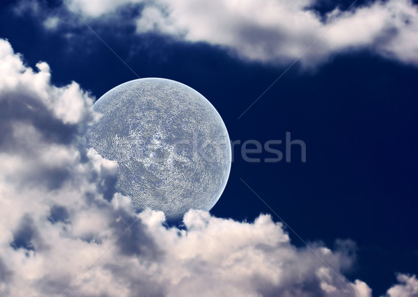 The moon in clouds Stock photo © cookelma