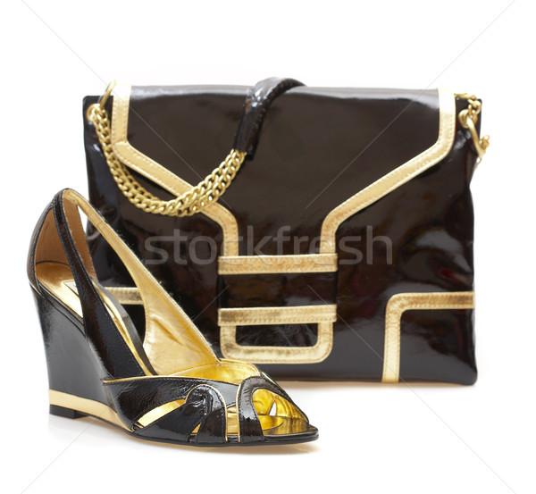 Female shoes and handbag Stock photo © cookelma
