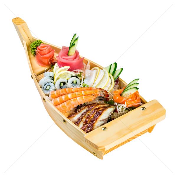 Deniz gıda kombinasyon beyaz balık akşam yemeği Stok fotoğraf © cookelma