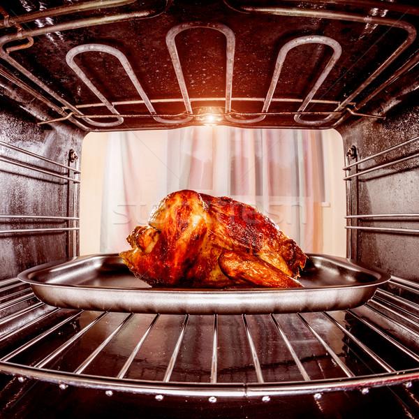 Сток-фото: жаркое · из · курицы · печи · мнение · внутри · приготовления · продовольствие
