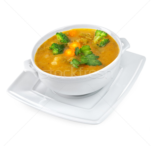 Soup of mashed with vegetables Stock photo © cookelma