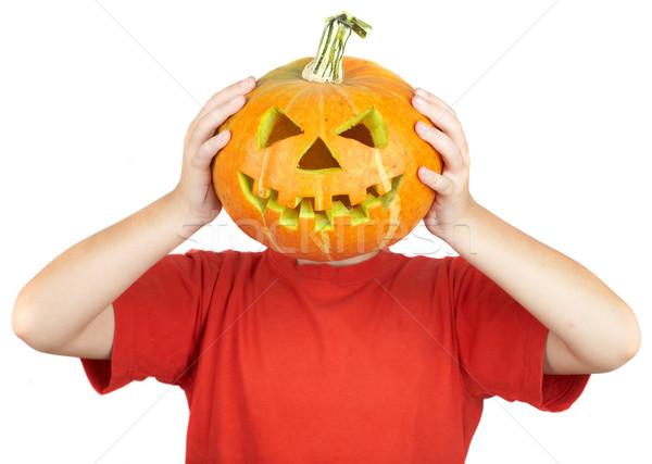 Zdjęcia stock: Chłopca · halloween · szczęśliwy · jesienią · osoby · cute
