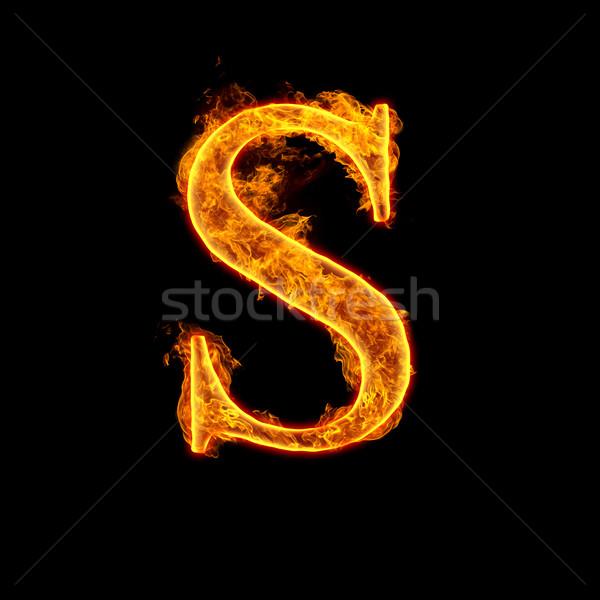Fire alphabet letter S Stock photo © cookelma