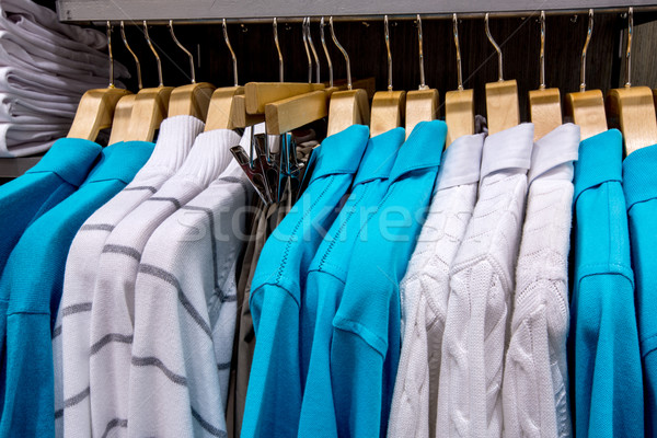 Clothing on hangers in shop Stock photo © cookelma