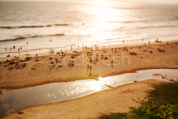 Timelapse Beach on the Indian Ocean. India (tilt shift lens). Stock photo © cookelma