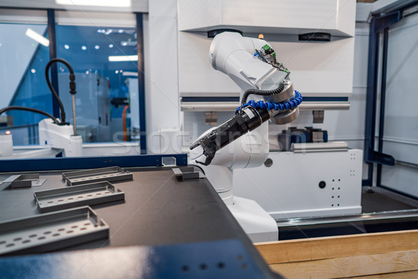Robotic Arm modern industrial technology. Automated production c Stock photo © cookelma