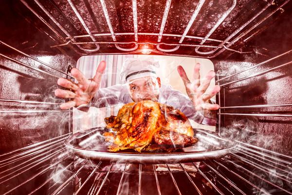 Drôle chef perplexe colère perdant destin Photo stock © cookelma