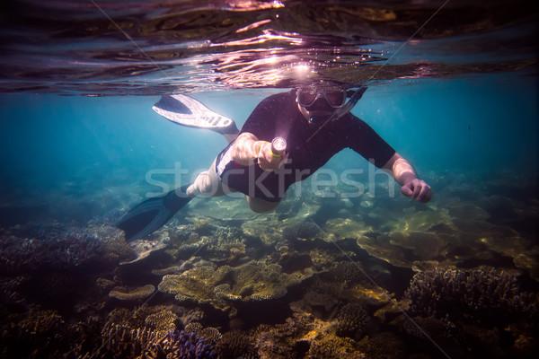 Stock photo: Snorkeler