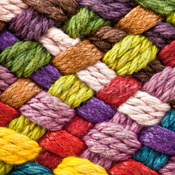 multi colored woollen yarns Stock photo © cookelma