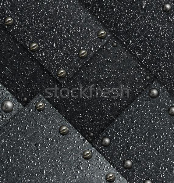 Résumé impressionnant métal plaque rétro rouille Photo stock © cookelma