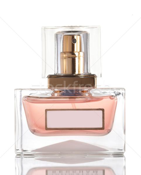 Parfum fles glas witte vrouwen mode Stockfoto © cookelma
