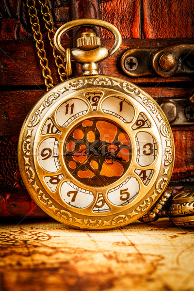 Vintage pocket watch Stock photo © cookelma