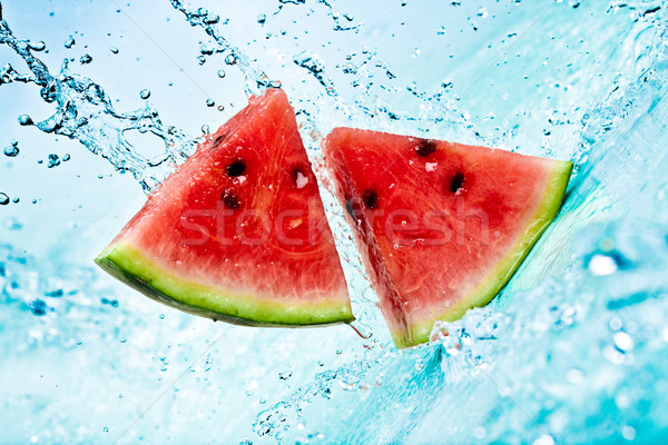 Photo stock: Pastèque · eau · eau · douce · Splash · rouge · manger