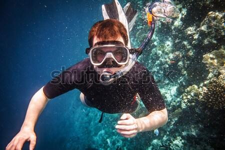 Dalış yüzme su adam spor erkekler Stok fotoğraf © cookelma