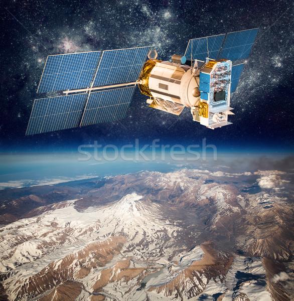 пространстве спутниковой планете Земля земле Элементы изображение Сток-фото © cookelma