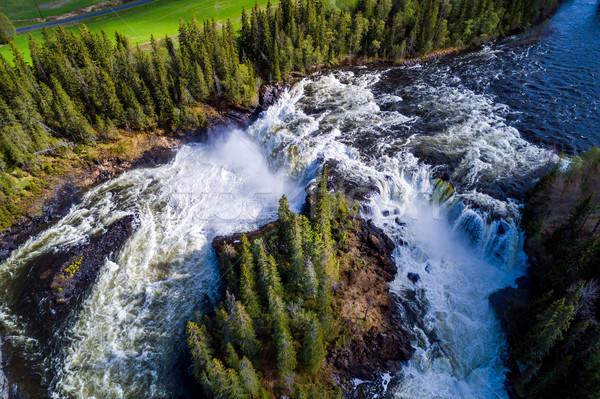 Cascata occidentale uno bella cascate Svezia Foto d'archivio © cookelma