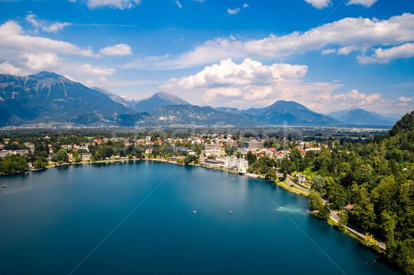 Eslovenia Resort lago aéreo cielo Foto stock © cookelma