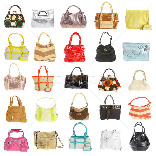 Ladies' handbag on a white background Stock photo © cookelma