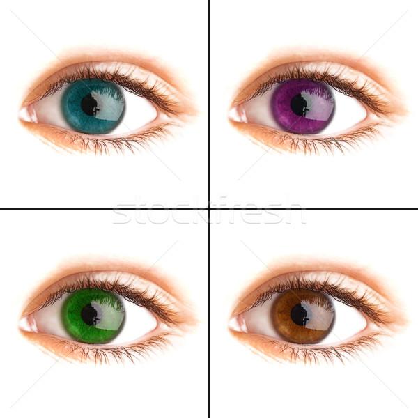 Human eye. macro shooting Stock photo © cookelma