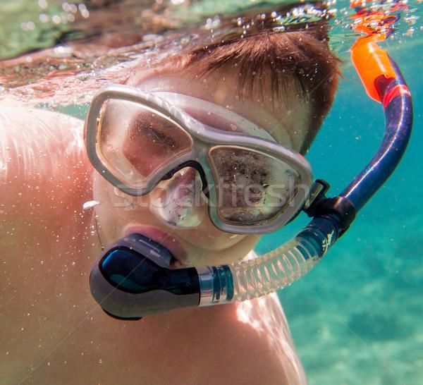 Snorkeler. Stock photo © cookelma