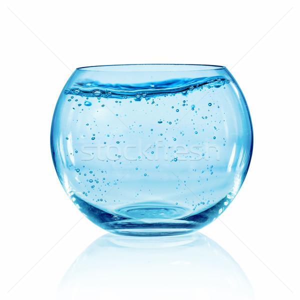 ストックフォト: 魚 · ボウル · 白 · 空っぽ · 孤立した · 水