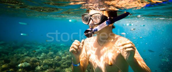 Stock photo: Snorkeler. Red sea