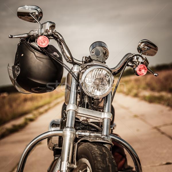Motocicleta carretera casco manillar tecnología moto Foto stock © cookelma