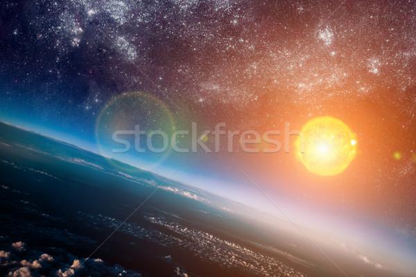 Güneş uzay fotoğraf elemanları görüntü alan Stok fotoğraf © cookelma