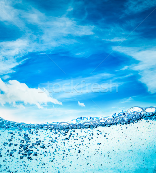 Close up water on a background of blue sky Stock photo © cookelma