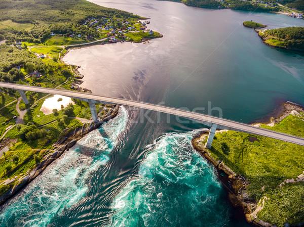 美しい 自然 ノルウェー 自然 風景 ストックフォト © cookelma