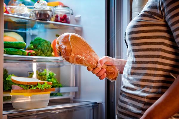 Faim femme Turquie jambe mains Photo stock © cookelma