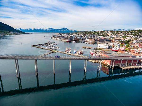 Köprü şehir Norveç fotoğrafçılık dünya Stok fotoğraf © cookelma