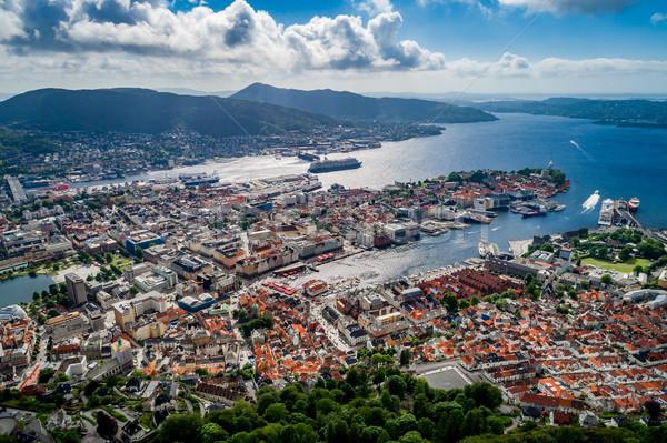 Ciudad oeste costa vista altura aves Foto stock © cookelma
