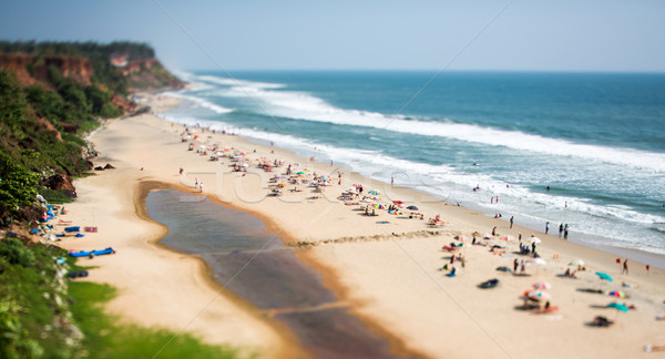Timelapse Beach on the Indian Ocean. India (tilt shift lens). Stock photo © cookelma