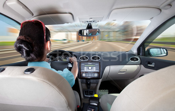women driving a car Stock photo © cookelma