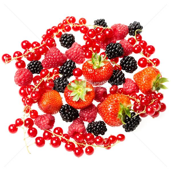 Fragola ribes BlackBerry lampone alimentare sfondo Foto d'archivio © cookelma