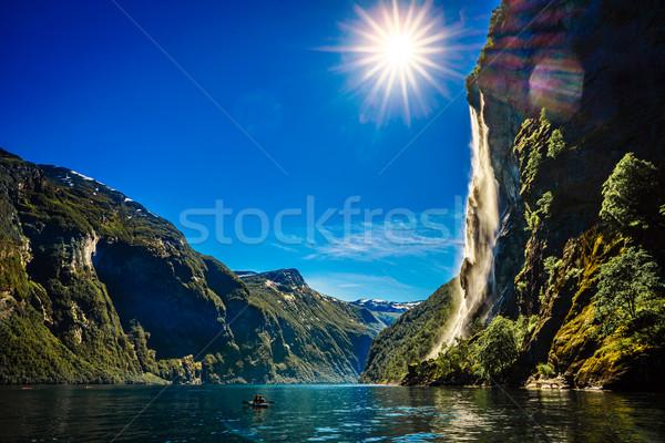 водопада семь красивой природы Норвегия Сток-фото © cookelma