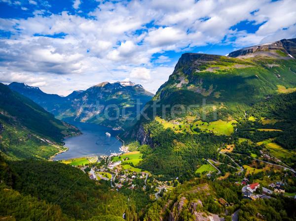 ノルウェー 美しい 自然 写真 長い ストックフォト © cookelma