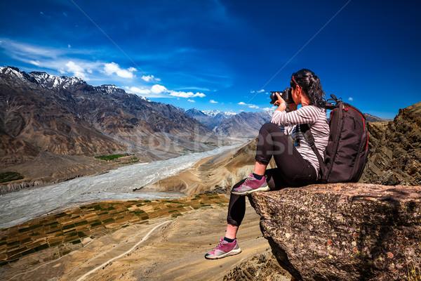Hindistan vadi doğa fotoğrafçı turist kamera Stok fotoğraf © cookelma
