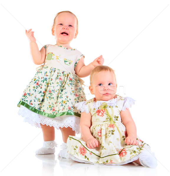 Egy évek öreg lánycsecsemők fehér lány Stock fotó © cookelma