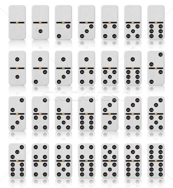 Csempék háttér fotó fehér játék csempe Stock fotó © cookelma