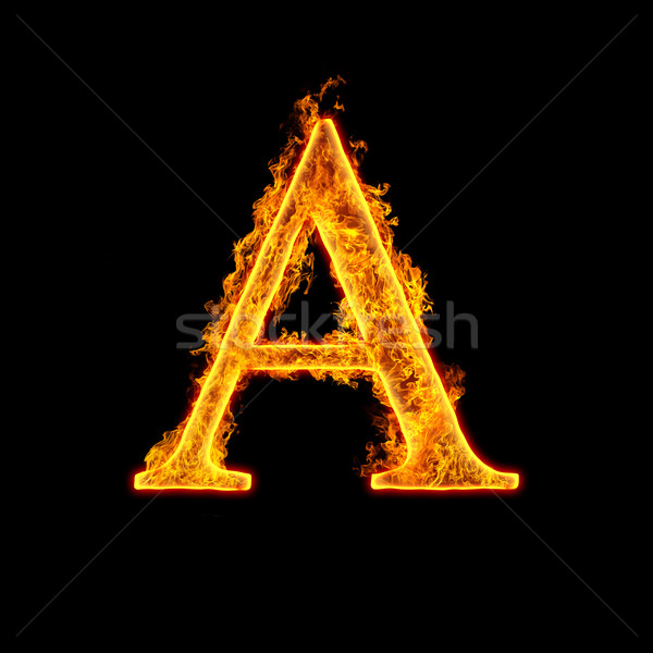 Fire alphabet letter A Stock photo © cookelma